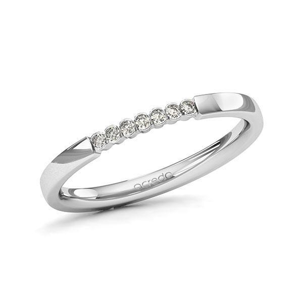 Memoire-Ring Weißgold 585 mit 0,07 ct. tw, si