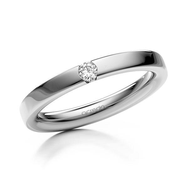 Memoire-Ring Weißgold 585 mit 0,08 ct. tw, si