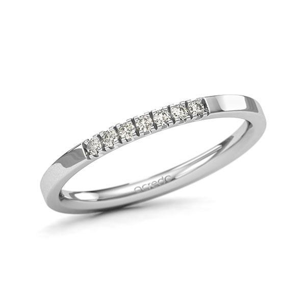 Memoire-Ring Weißgold 585 mit 0,105 ct. tw, si
