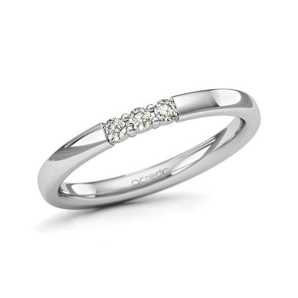 Memoire-Ring Weißgold 585 mit 0,12 ct. tw, si