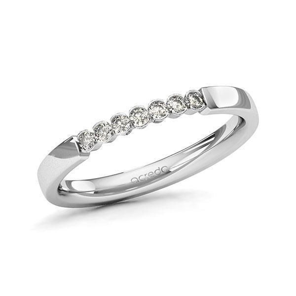 Memoire-Ring Weißgold 585 mit 0,14 ct. tw, si