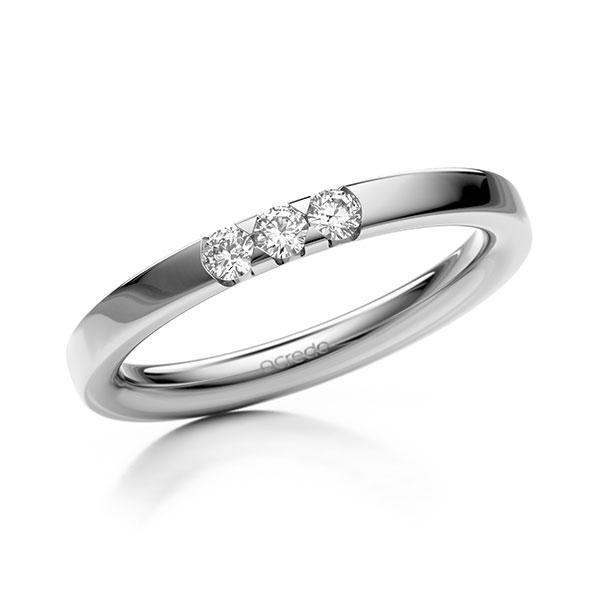 Memoire-Ring Weißgold 585 mit 0,15 ct. tw, si