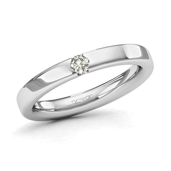 Memoire-Ring Weißgold 585 mit 0,1 ct. tw, si
