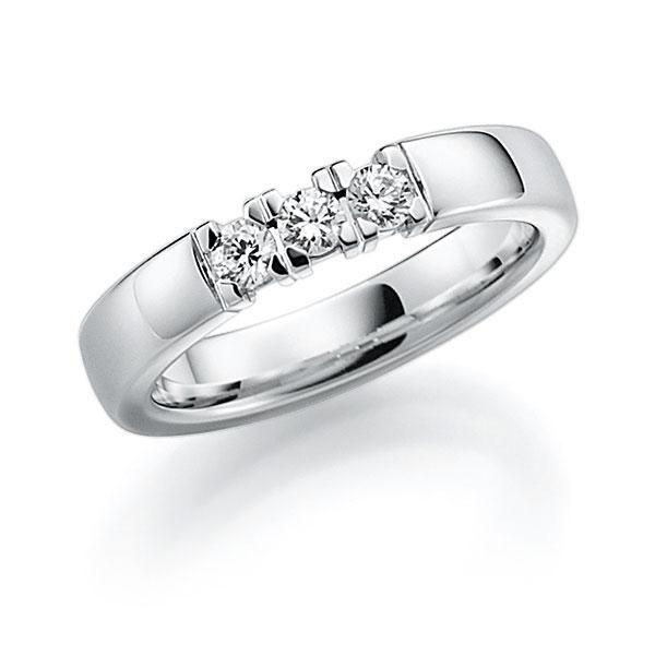 Memoire-Ring Weißgold 585 mit 0,24 ct. tw, vs