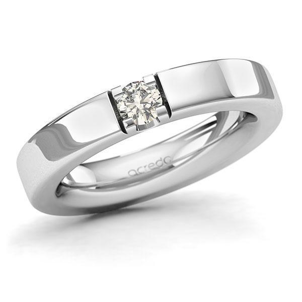 Memoire-Ring Weißgold 585 mit 0,25 ct. tw, si
