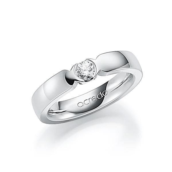 Memoire-Ring Weißgold 585 mit 0,25 ct. tw, vs