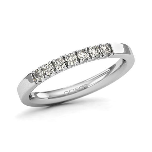 Memoire-Ring Weißgold 585 mit 0,28 ct. tw, si