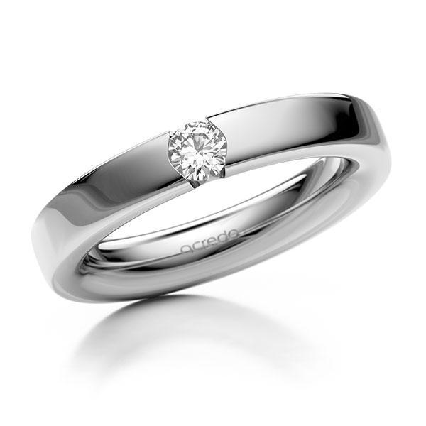Memoire-Ring Weißgold 585 mit 0,2 ct. tw, si