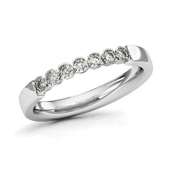 Memoire-Ring Weißgold 585 mit 0,35 ct. tw, si