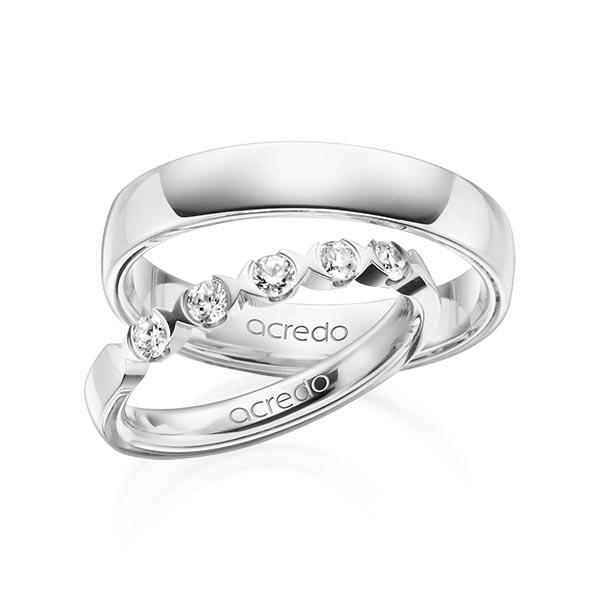 Memoire-Ring Weißgold 585 mit 0,3 ct. tw, vs