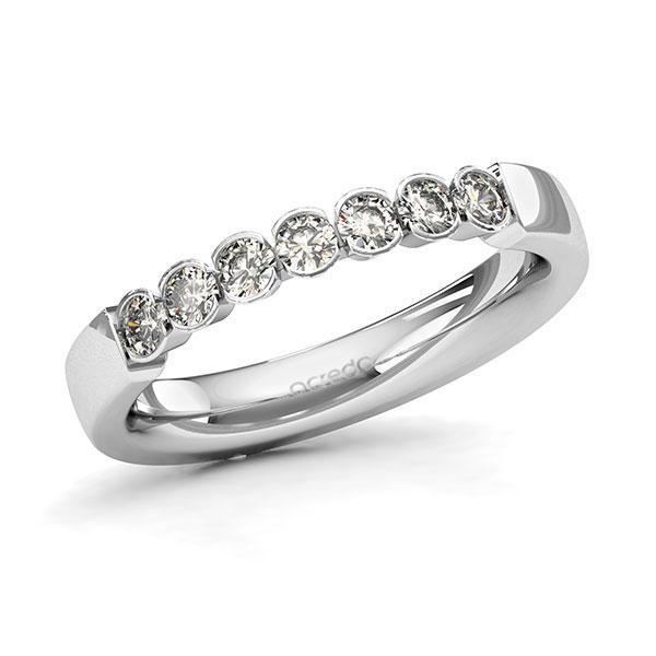 Memoire-Ring Weißgold 585 mit 0,42 ct. tw, si