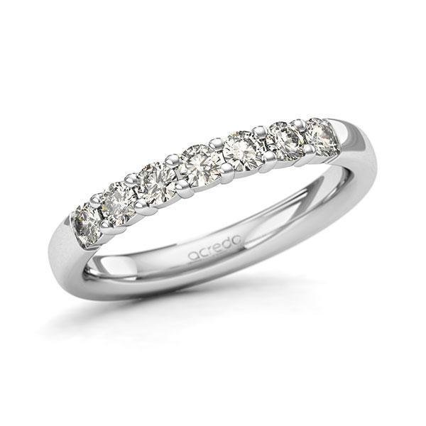 Memoire-Ring Weißgold 585 mit 0,49 ct. tw, si