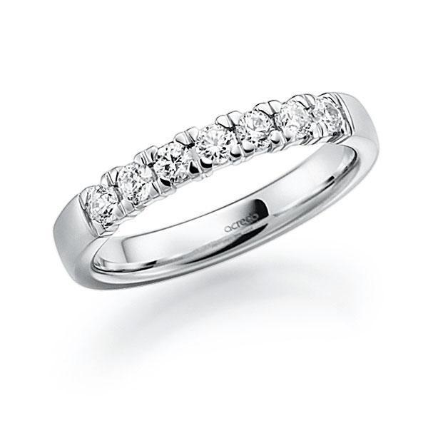 Memoire-Ring Weißgold 585 mit 0,49 ct. tw, vs