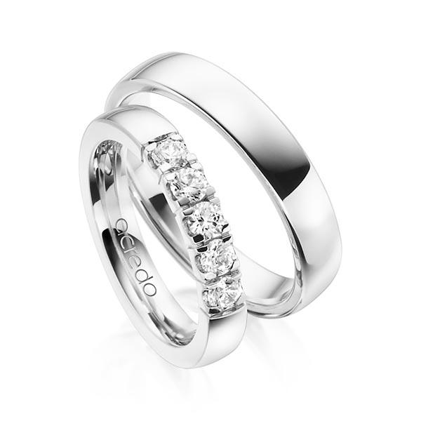 Memoire-Ring Weißgold 585 mit 0,55 ct. tw, vs