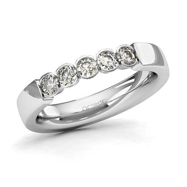 Memoire-Ring Weißgold 585 mit 0,5 ct. tw, si