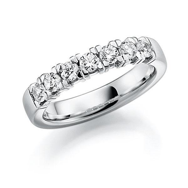 Memoire-Ring Weißgold 585 mit 0,63 ct. tw, vs