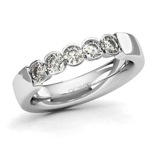 Memoire-Ring Weißgold 585 mit 0,75 ct. tw, si