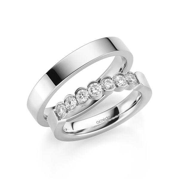 Memoire-Ring Weißgold 585 mit 0,7 ct. tw, si