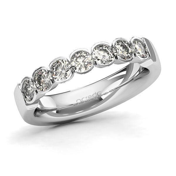 Memoire-Ring Weißgold 585 mit 1,05 ct. tw, si