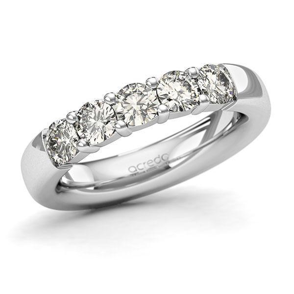 Memoire-Ring Weißgold 585 mit 1,25 ct. tw, si