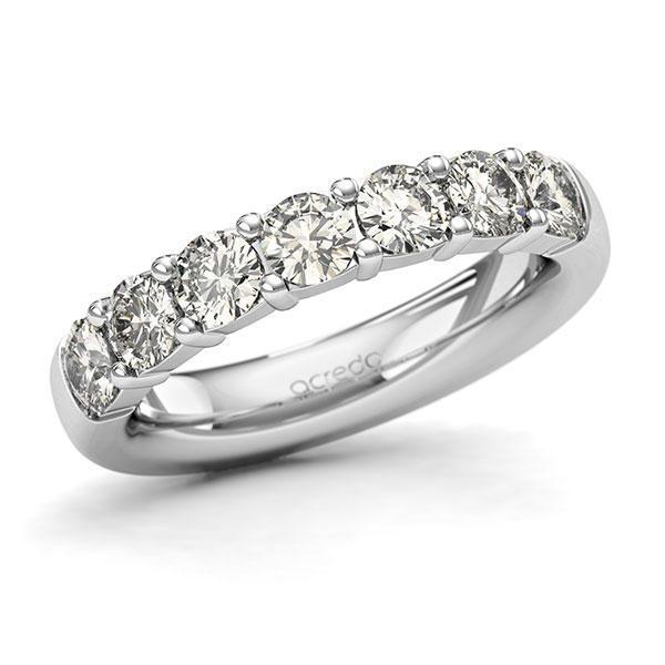 Memoire-Ring Weißgold 585 mit 1,4 ct. tw, si