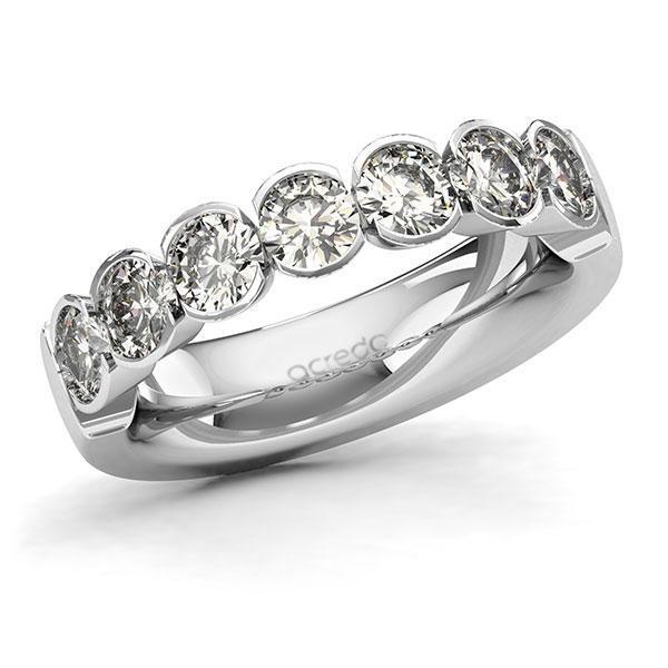 Memoire-Ring Weißgold 585 mit 1,75 ct. tw, si