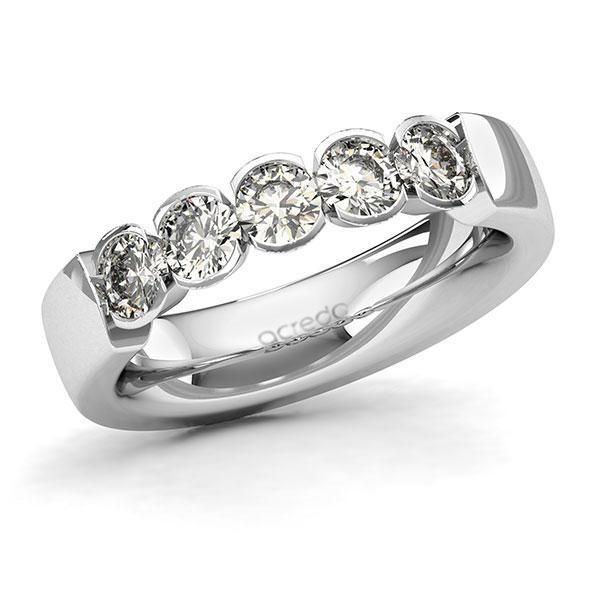 Memoire-Ring Weißgold 585 mit 1 ct. tw, si