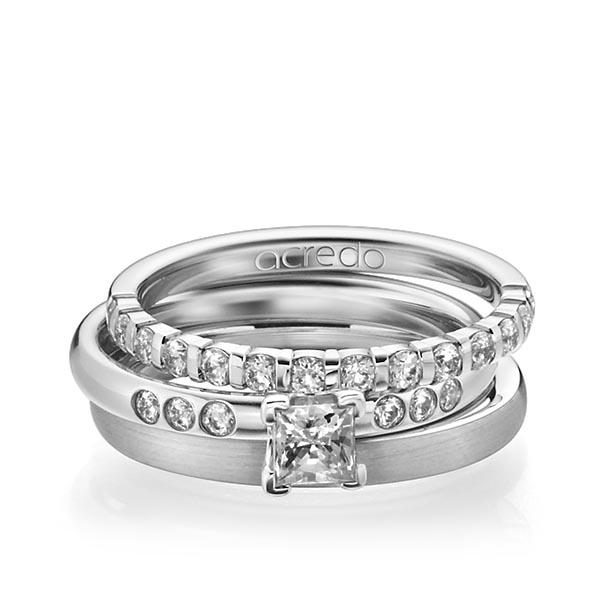 Memoire-Ring Weißgold 750