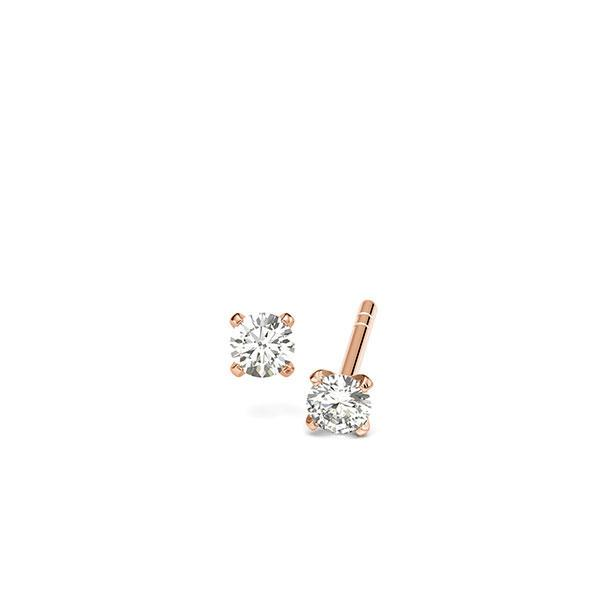 Ohrringe Ohrstecker Rotgold 585 mit 0,2 ct. tw, si