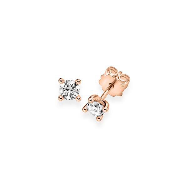 Ohrringe Ohrstecker Rotgold 585 mit 0,6 ct. G VS