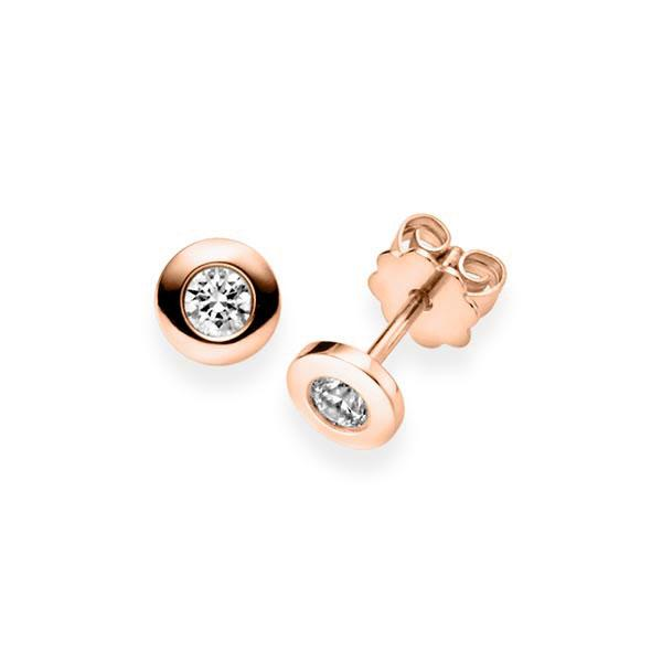 Ohrringe Ohrstecker Rotgold 585 mit 0,8 ct. G VS