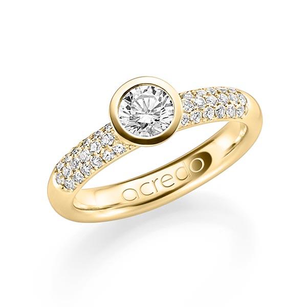 Trauringe Gelbgold 585 mit 0,86 ct. tw, si & G SI