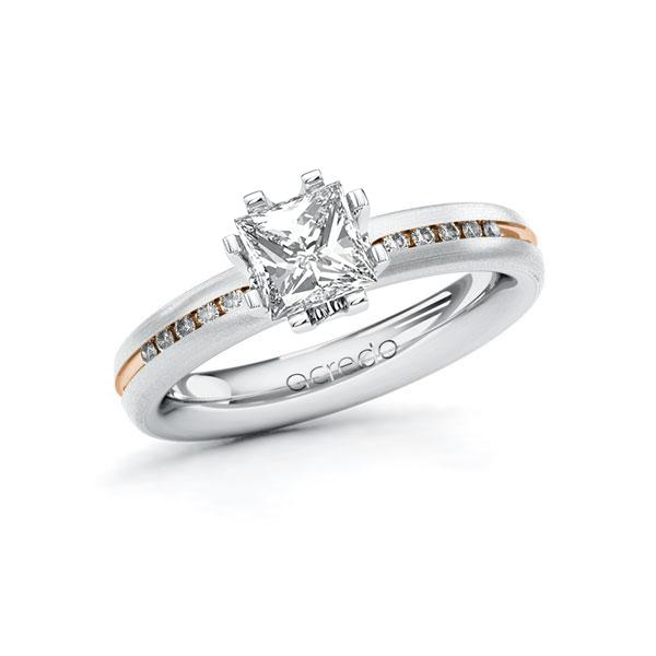 Verlobungsring Diamantring 1,08ct. G VS & tw, si Weißgold 585 Rotgold 585