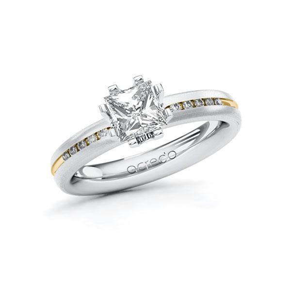Verlobungsring Diamantring 1,08ct. G VS & tw, si Weißgold 585 Gelbgold 585