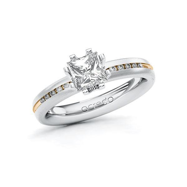 Verlobungsring Diamantring 1,08ct. G VS & tw, si Weißgold 585 Roségold 585