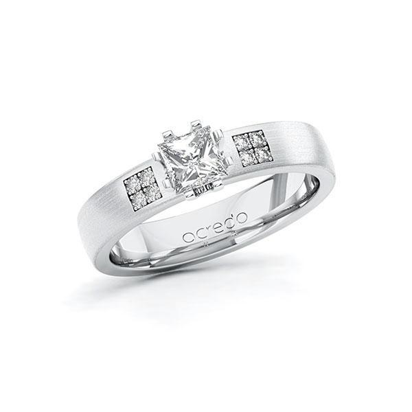 Verlobungsring Diamantring 0,564 ct. G VS & tw, si Weißgold 585
