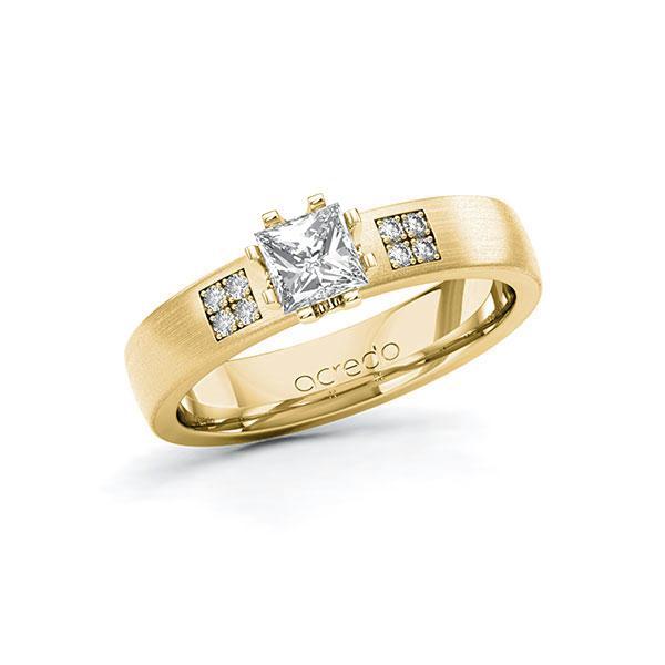 Verlobungsring Diamantring 0,564 ct. G VS & tw, si Gelbgold 585