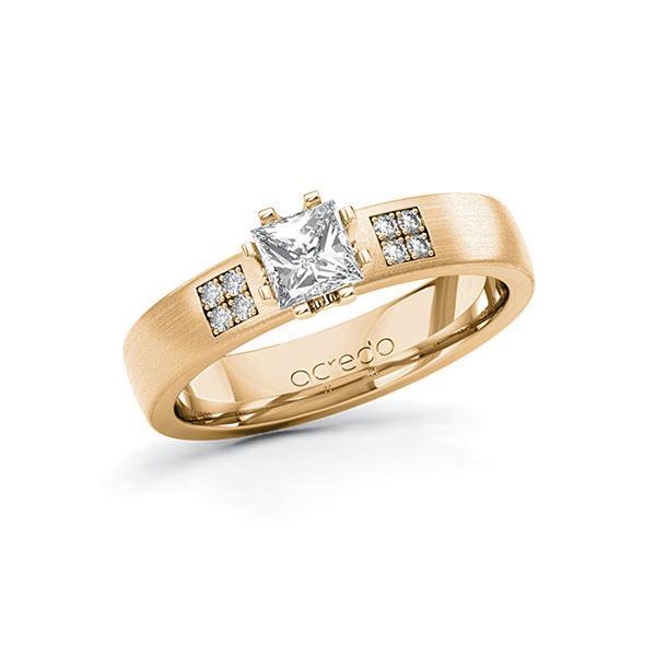 Verlobungsring Diamantring 0,564 ct. G VS & tw, si Roségold 585