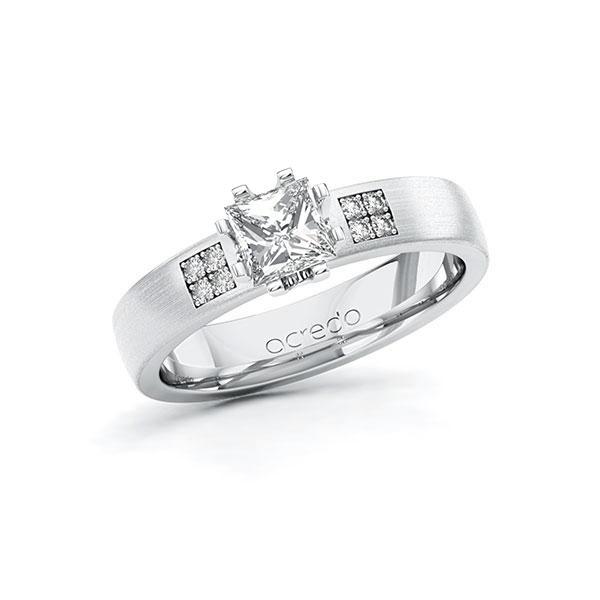 Verlobungsring Diamantring 0,764 ct. G VS & tw, si Weißgold 585