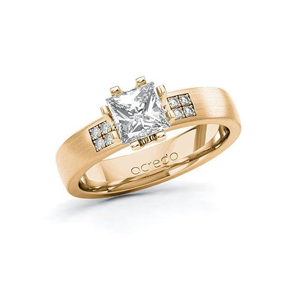 Verlobungsring Diamantring 1,064 ct. G VS & tw, si Roségold 750