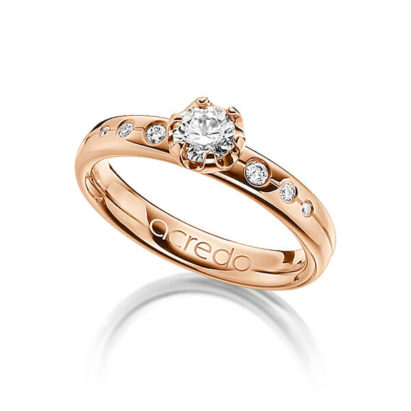 Trauringe Rotgold 585 mit 0,5 ct. tw, vs & G VS