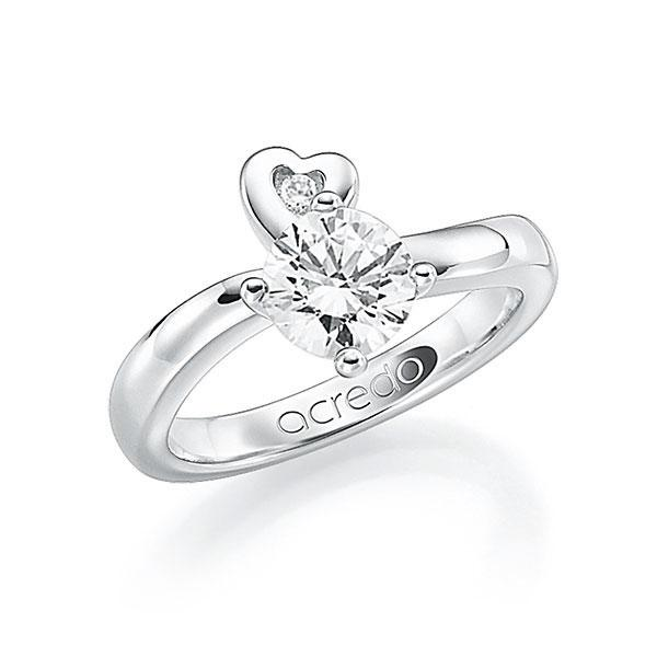 Verlobungsring Diamantring 0,7 ct. G SI & tw, si Weißgold 585