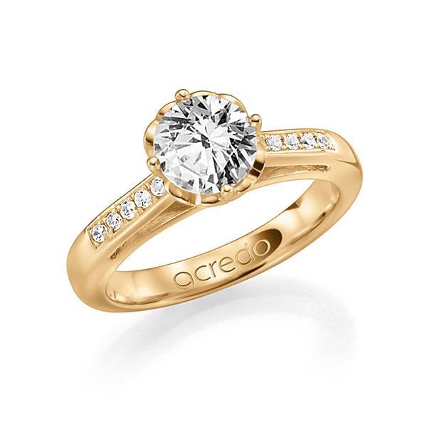 Verlobungsring Diamantring 0,7 ct. G SI & tw, si Roségold 585