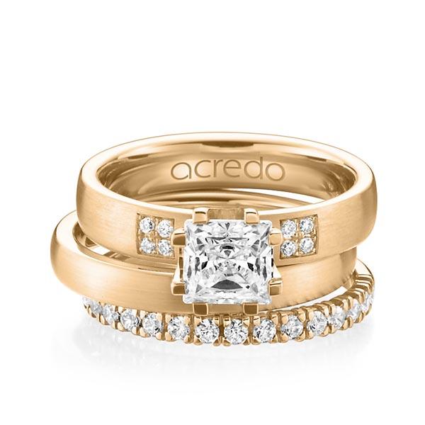Verlobungsring Diamantring 1,064 ct. G VS & tw, si Roségold 585
