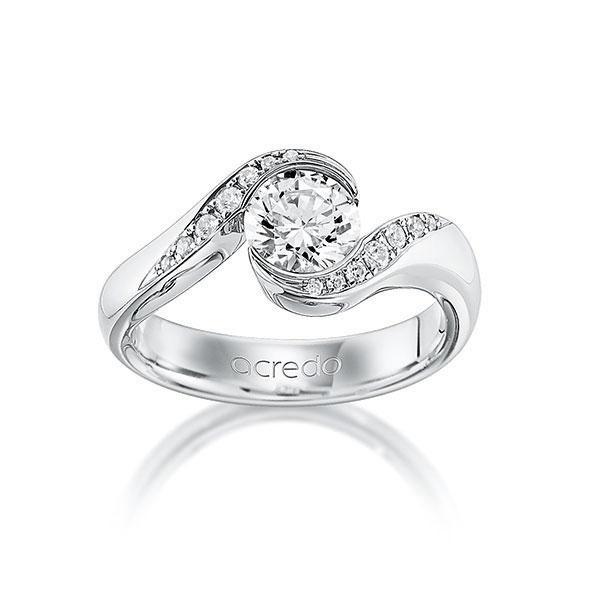 Verlobungsring Diamantring 1,14 ct. G VS & tw, si Weißgold 585