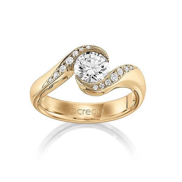 Verlobungsring Diamantring 0,84 ct. G VS & tw, si Roségold 585