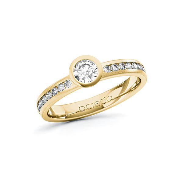 Verlobungsring Diamantring 0,54 ct. G SI & tw, si Gelbgold 585