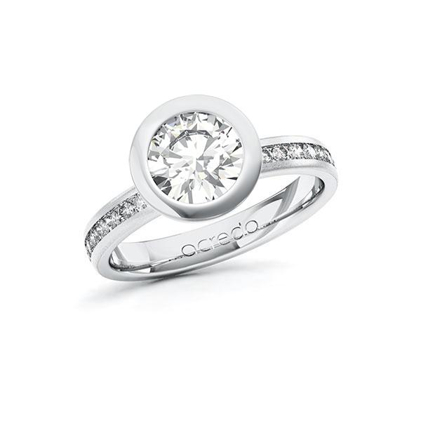 Verlobungsring Diamantring 1,74 ct. G VS & tw, si Weißgold 585