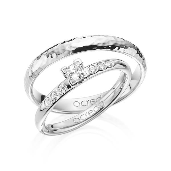 Verlobungsring Diamantring 0,32 ct. tw, vs & tw, si Weißgold 585