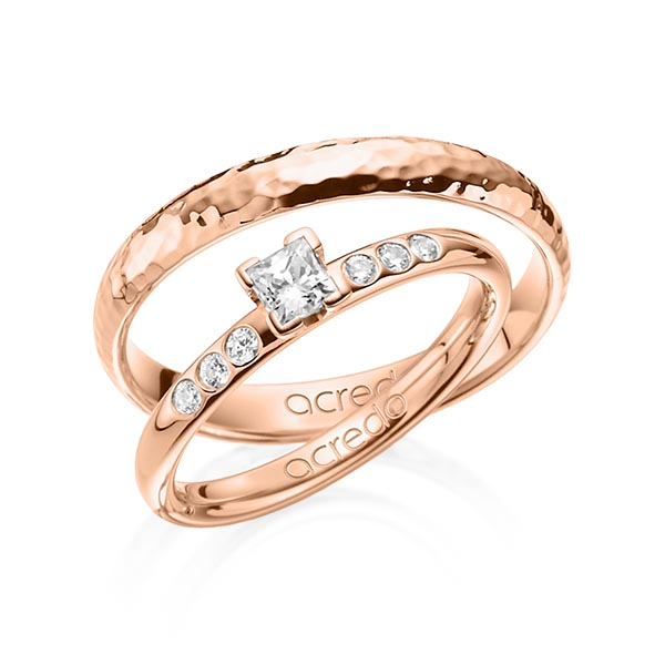 Verlobungsring Diamantring 0,32 ct. tw, vs & tw, si Rotgold 585